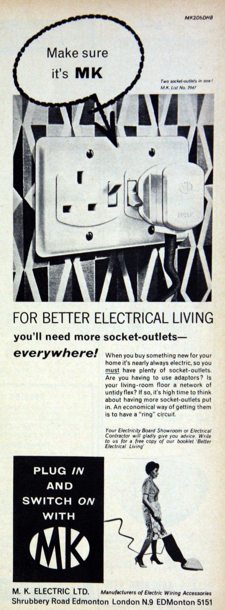 M K Electric Mk Wiring Accessories July 1961