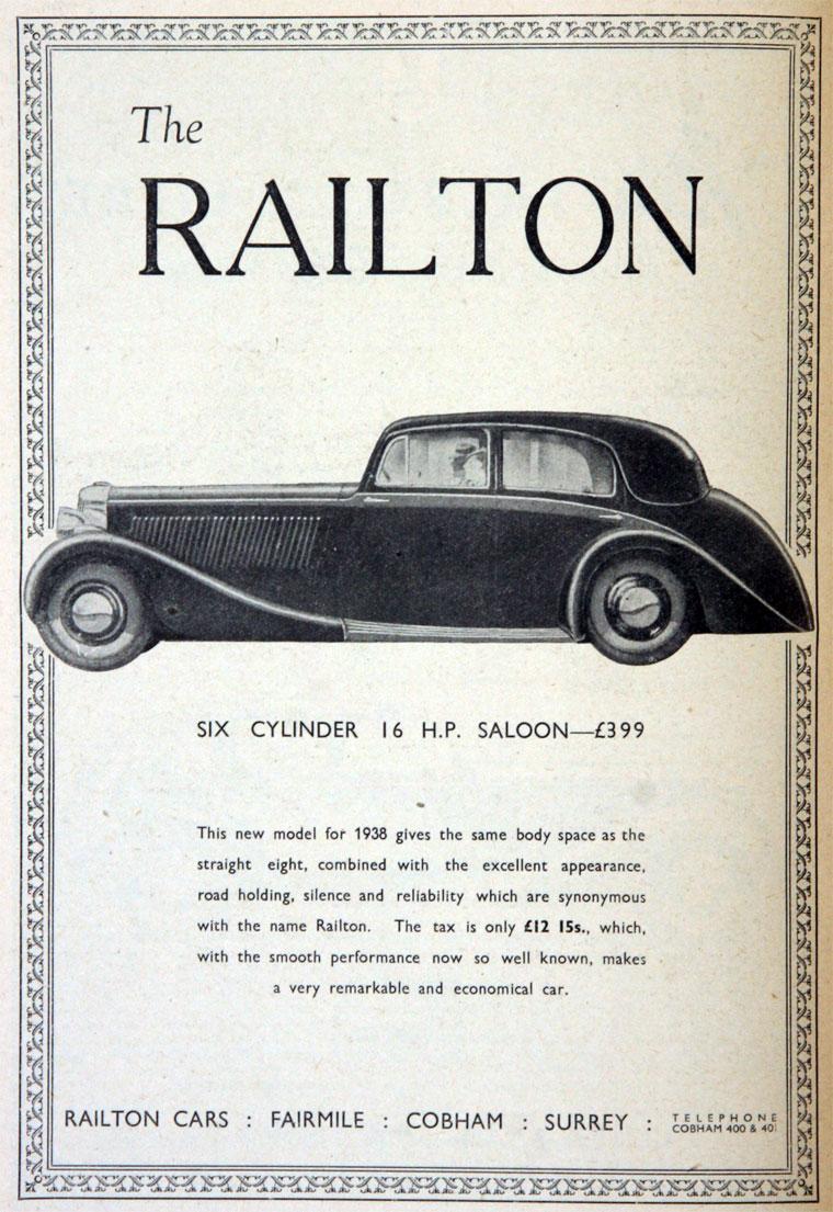 Railton Cars Graces Guide
