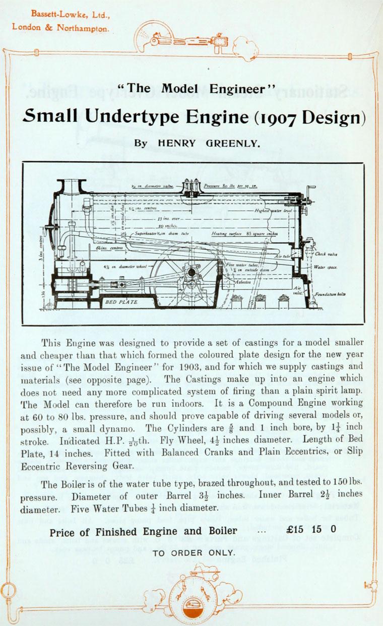 Bassett-Lowke: 1912 May Catalogue