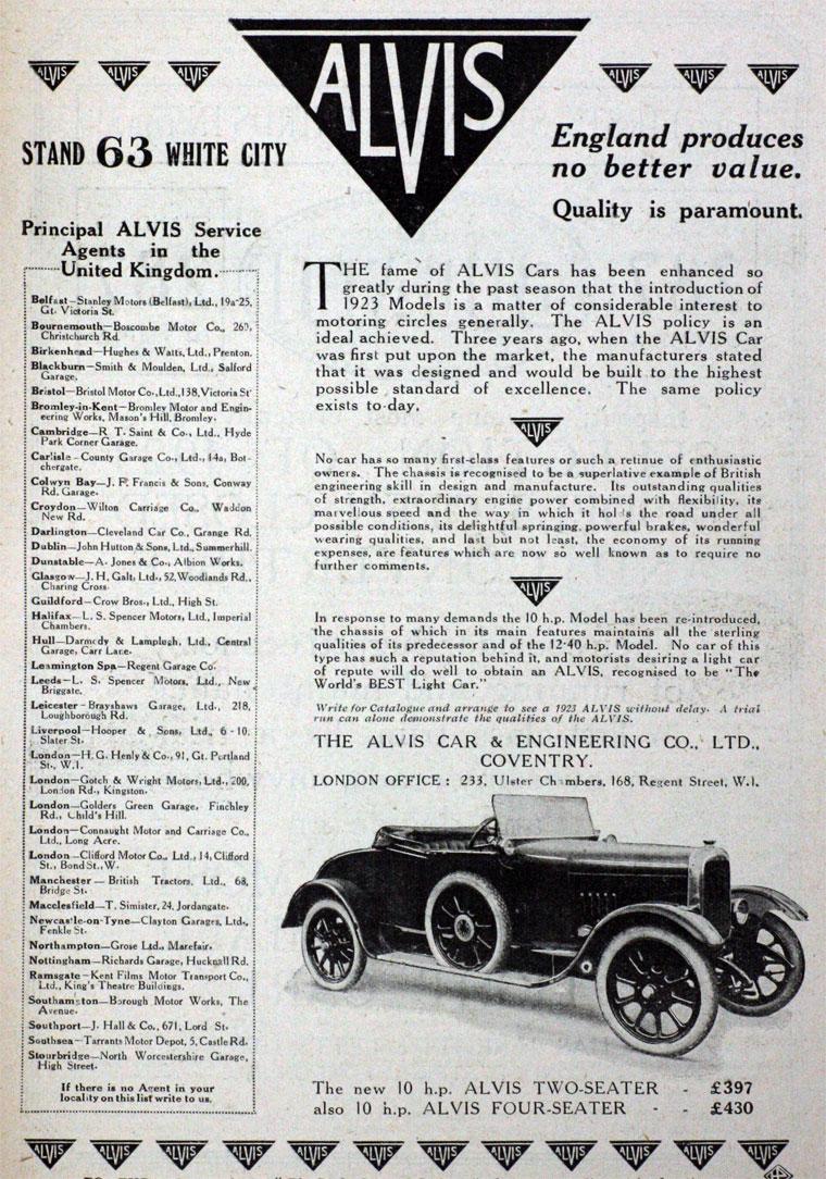 Alvis: Cars