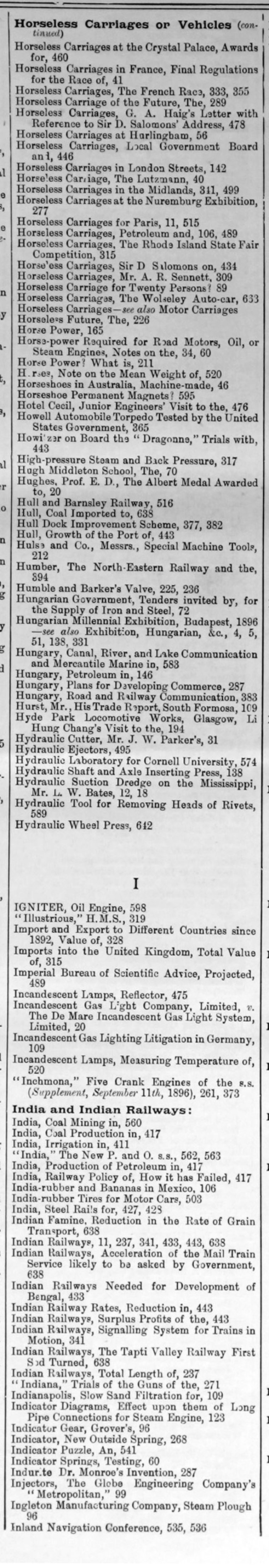 The Engineer 1896 Jul Dec Index Miscellaneous Stateworks Gt Software Swexecstandardle