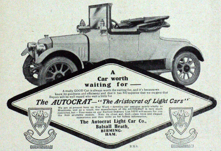 Autocrat Light Car Co - Graces Guide