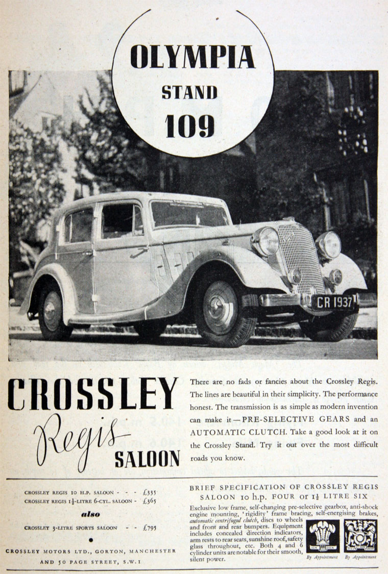 Crossley Motors Cars Crosley Car Wiring Diagram October 1936