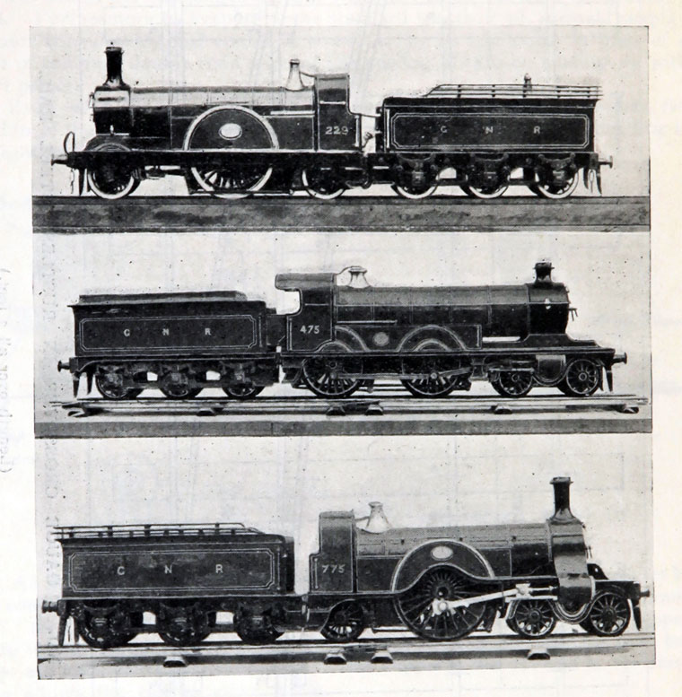Model of GNR Trains September 1914 Great