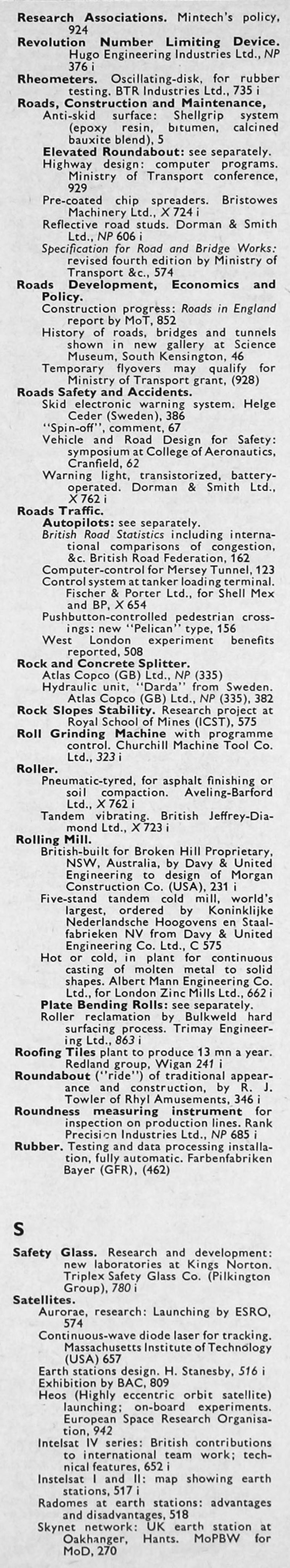 The Engineer 1968 Jul-Dec: Index