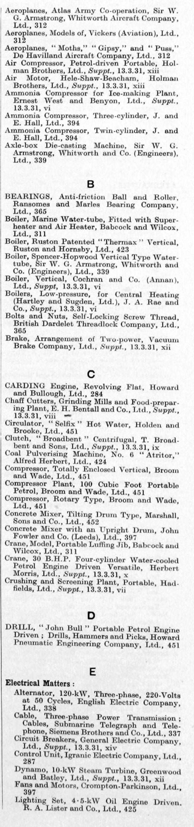 the engineer 1931 jan jun index