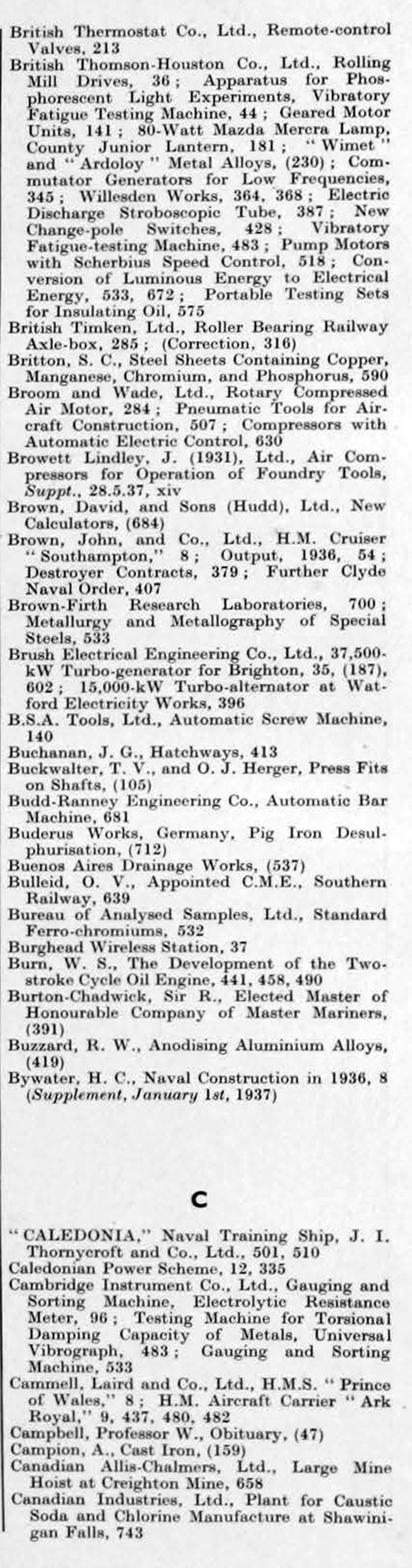 the engineer jan jun index graces guide the engineer 1937 jan jun index