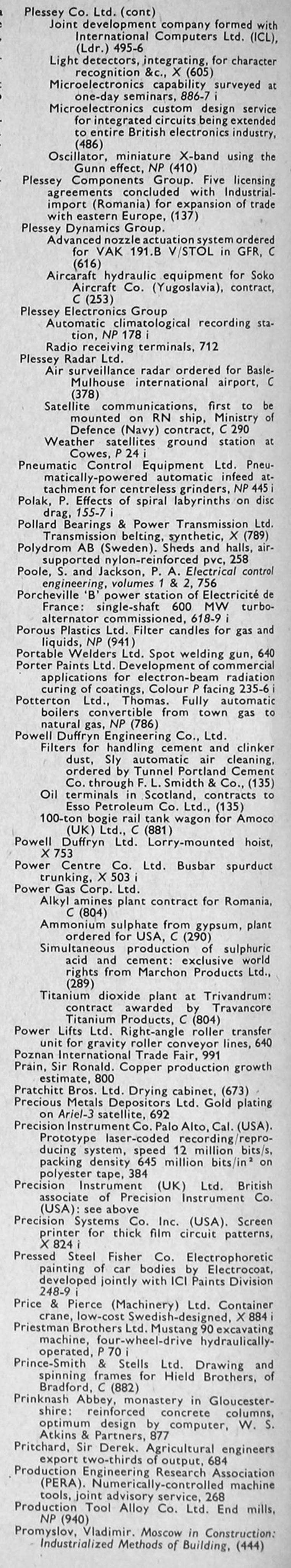 Circuits zone 187 1001 electronic project circuits - The Engineer 1968 Jan Jun Index