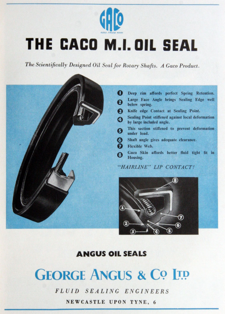 Image result for GEORGE ANGUS GACO OIL SEALS
