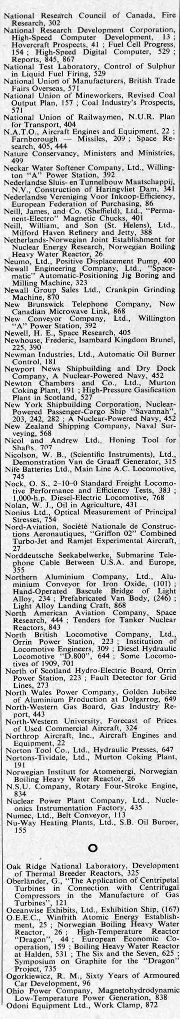 The Engineer 1959 Jul Dec Index