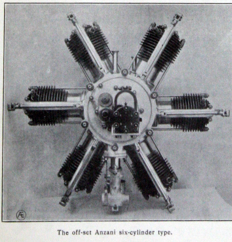 November 1912. Six Cylinder Rotary Engine.