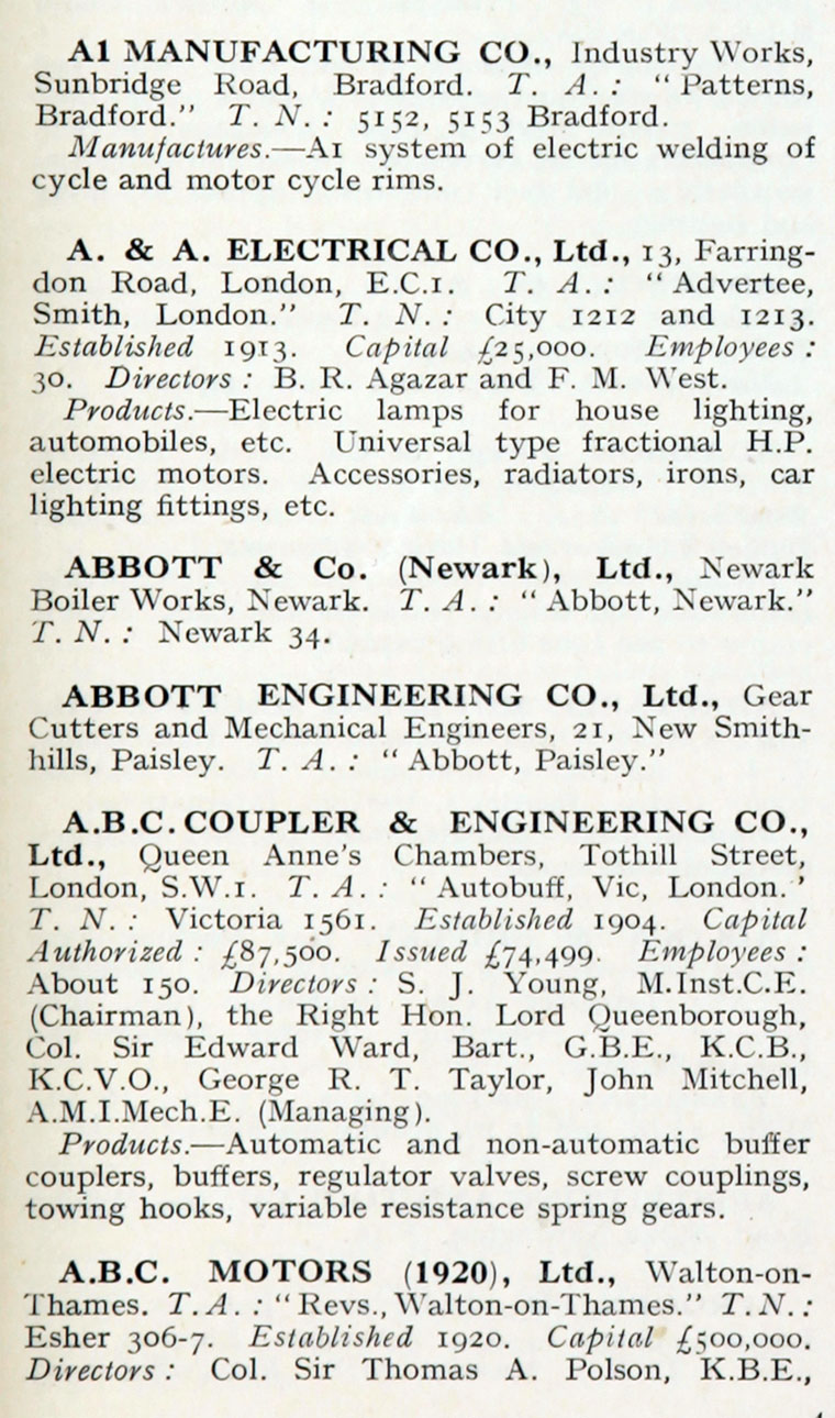 1922 Who S Who In Engineering Company A