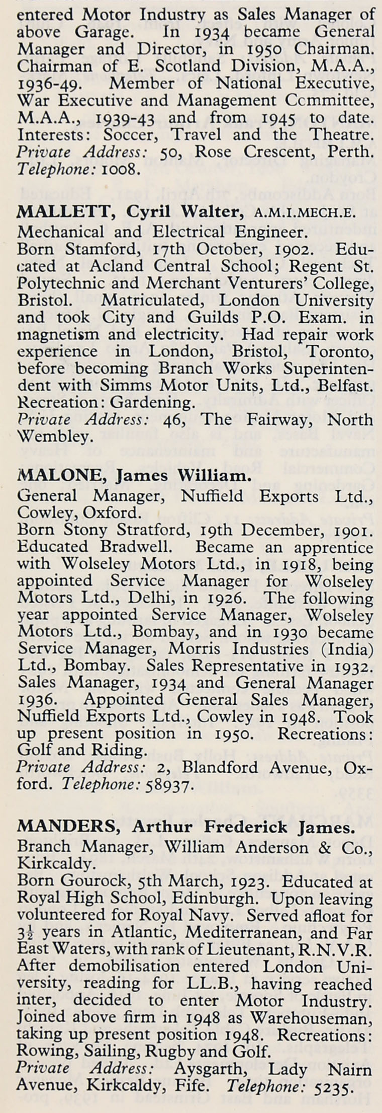 1953 whos who in the motor industry persons m graces guide im1953wwm p433ag aiddatafo Choice Image