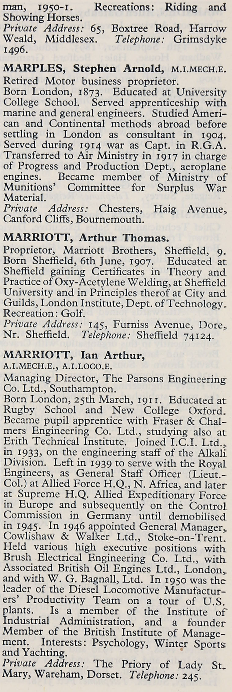 1953 whos who in the motor industry persons m graces guide im1953wwm p435bg aiddatafo Choice Image