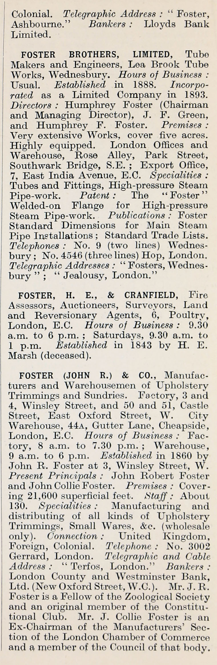 1914 Who S Who In Business Company F Graces Guide