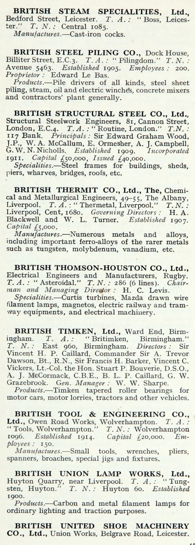 1922 Whos Who In Engineering Company B Wiring Gt Tools For Testers Circuit Tester Hopkins Im1921bwwe P472a