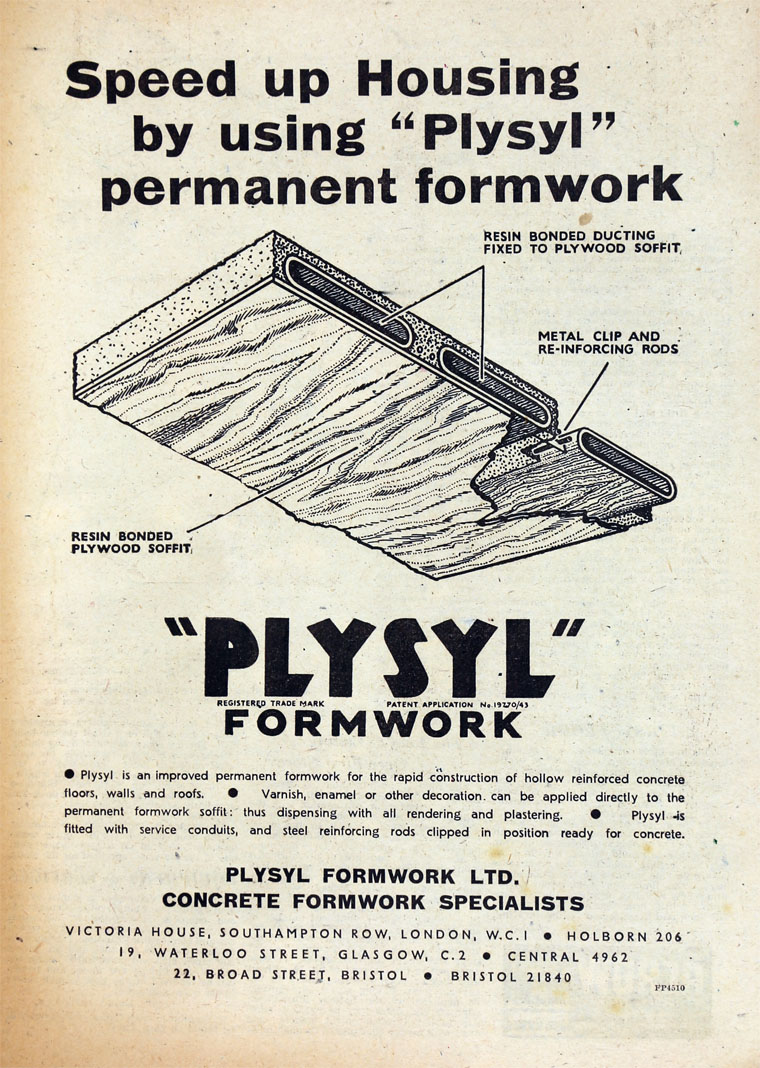 Plysyl Formwork - Graces Guide