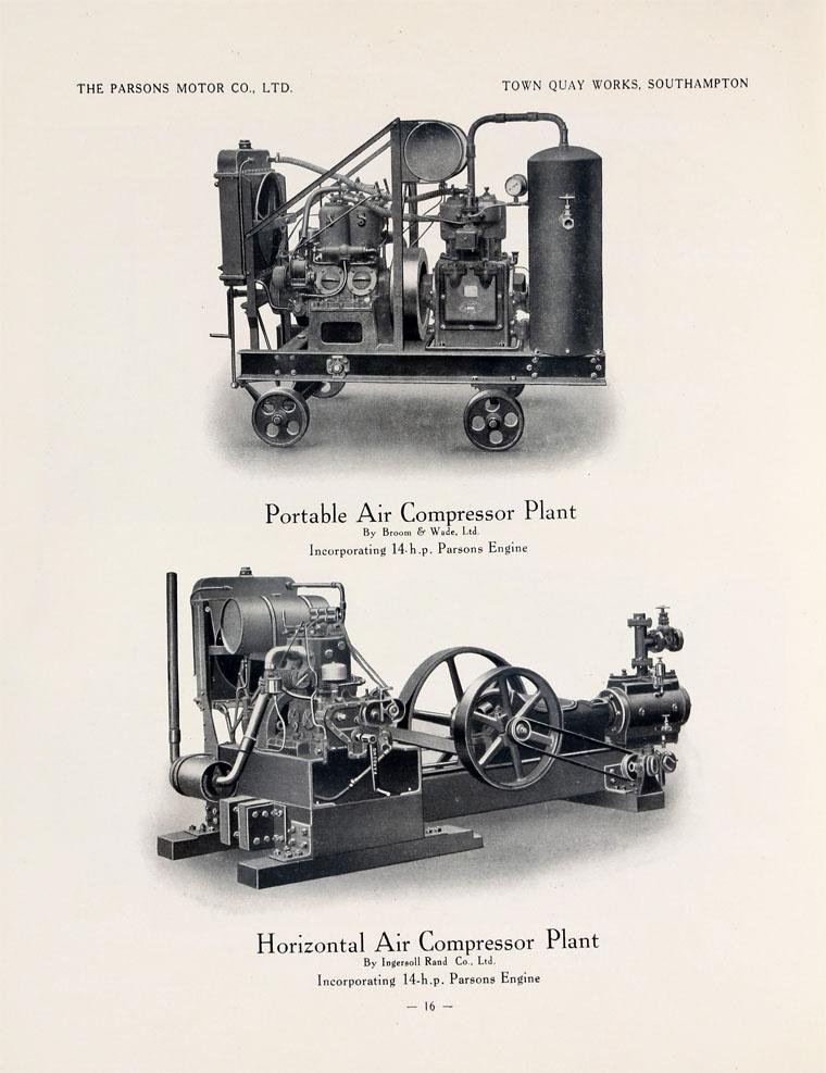 Parsons Motor Co: 1922 Parsons Engines Catalogue - Graces Guide