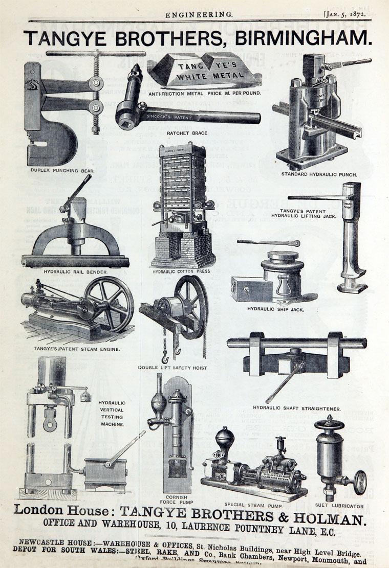 Antique Print 1886 RICHARD TANGYE British manufacturer of engines