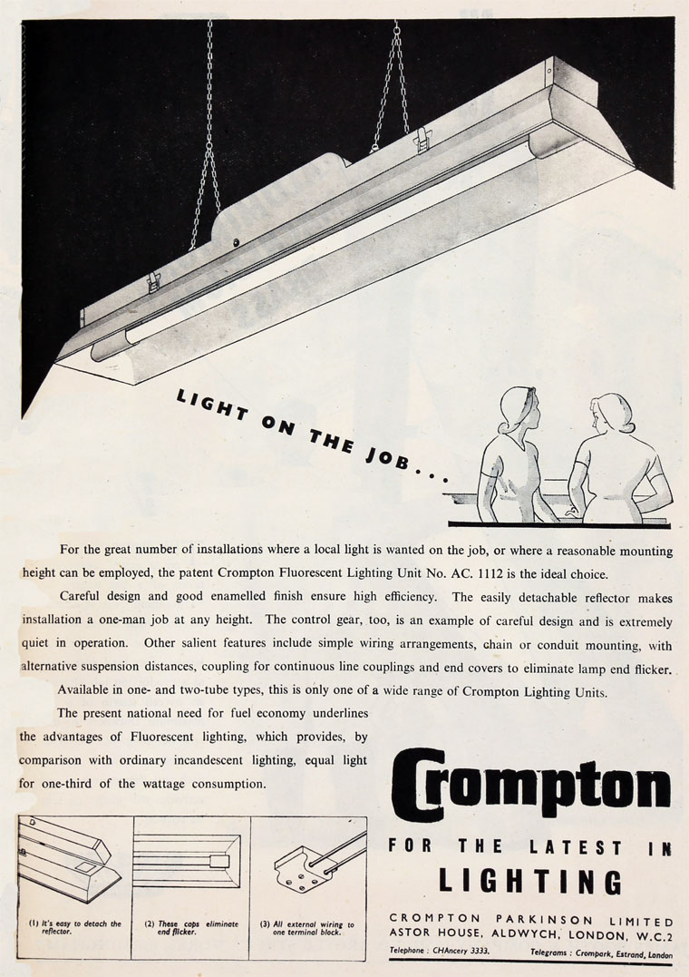 Crompton Parkinson Brook Wiring Diagram April 1948
