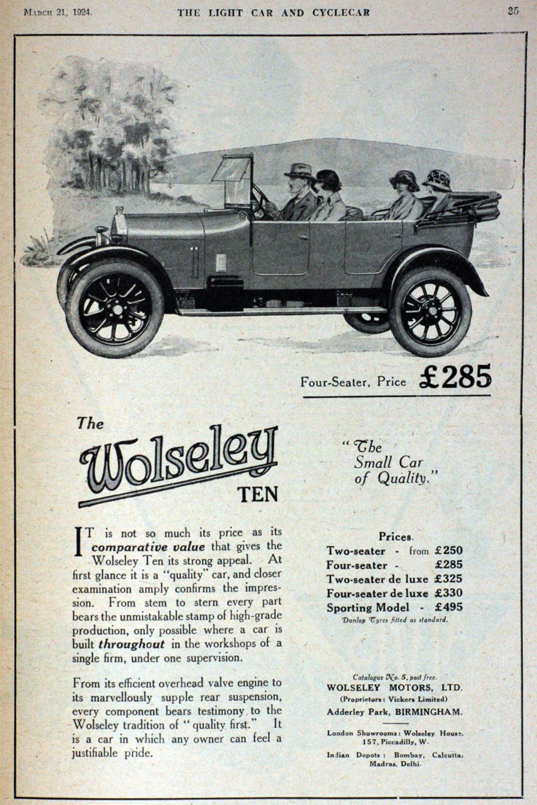 Wolseley: Cars - Graces Guide