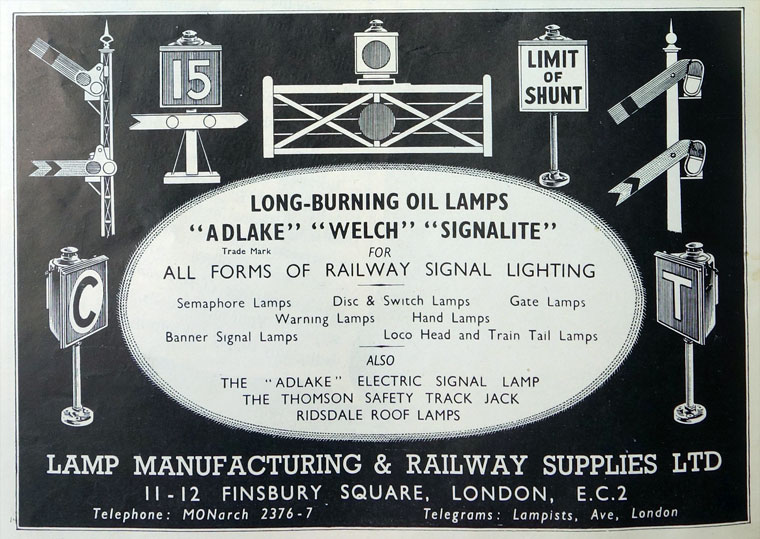 Lamp Manufacturing And Railway Supplies Graces Guide