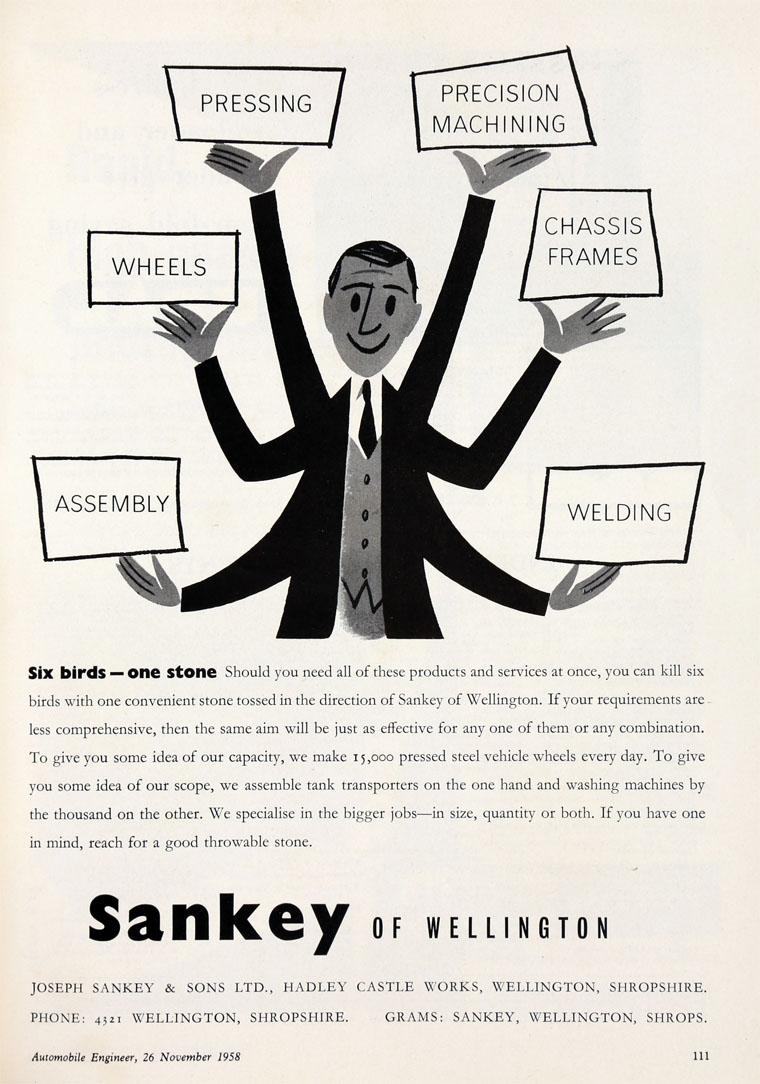 Joseph Sankey And Sons 3 4 Ton Trailer Wiring November 1958