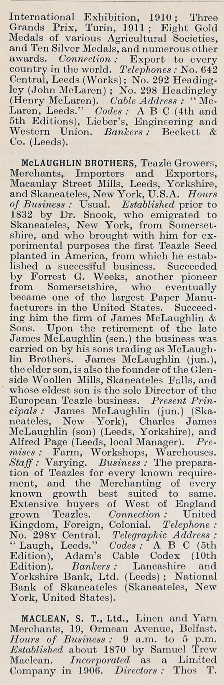 1914 Who's Who in Business: Company M - Graces Guide
