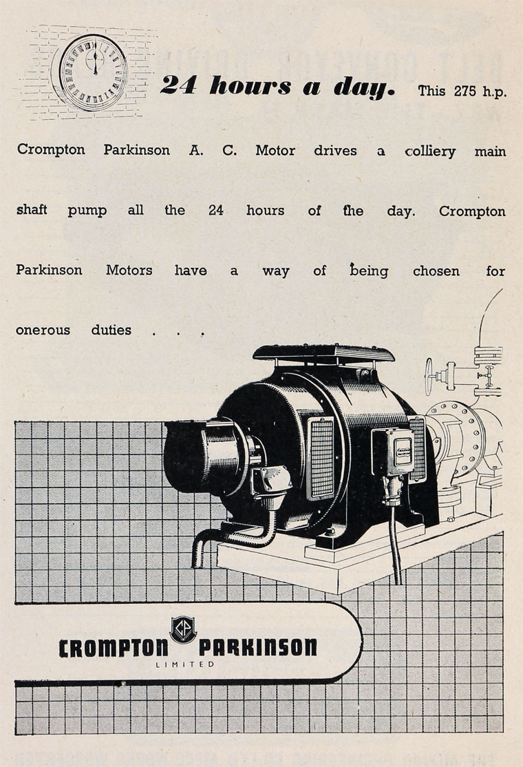 Crompton Parkinson Brook Motor Wiring Diagrams May 1944