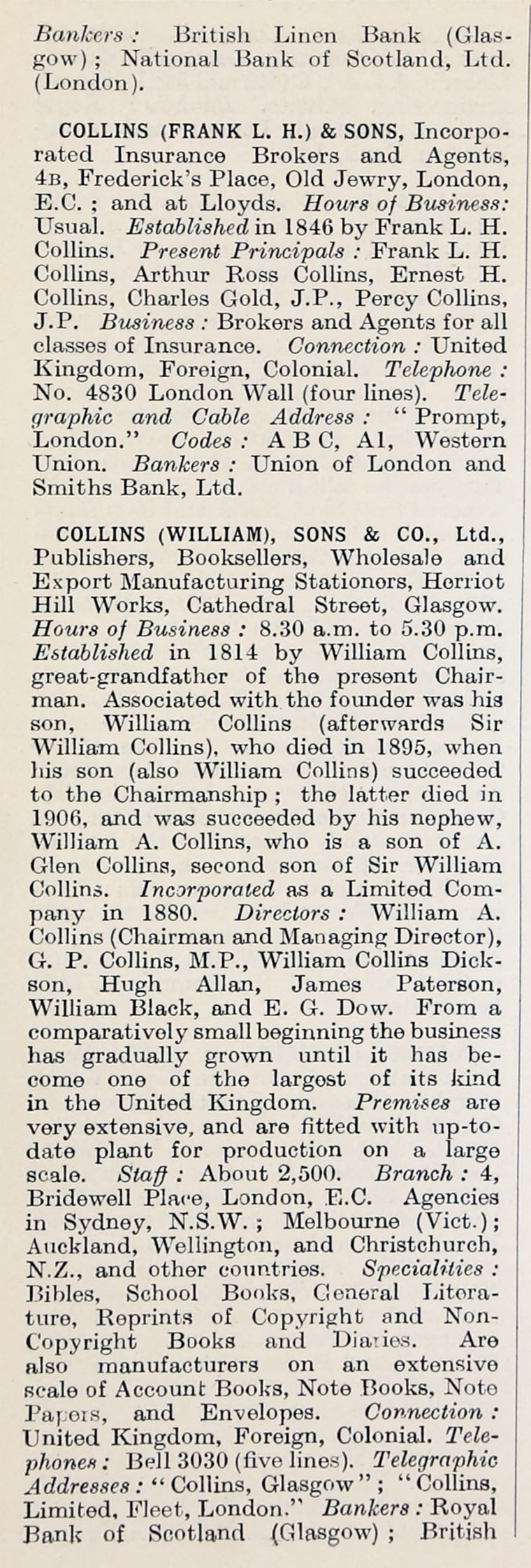1914 Who's Who in Business: Company C - Graces Guide