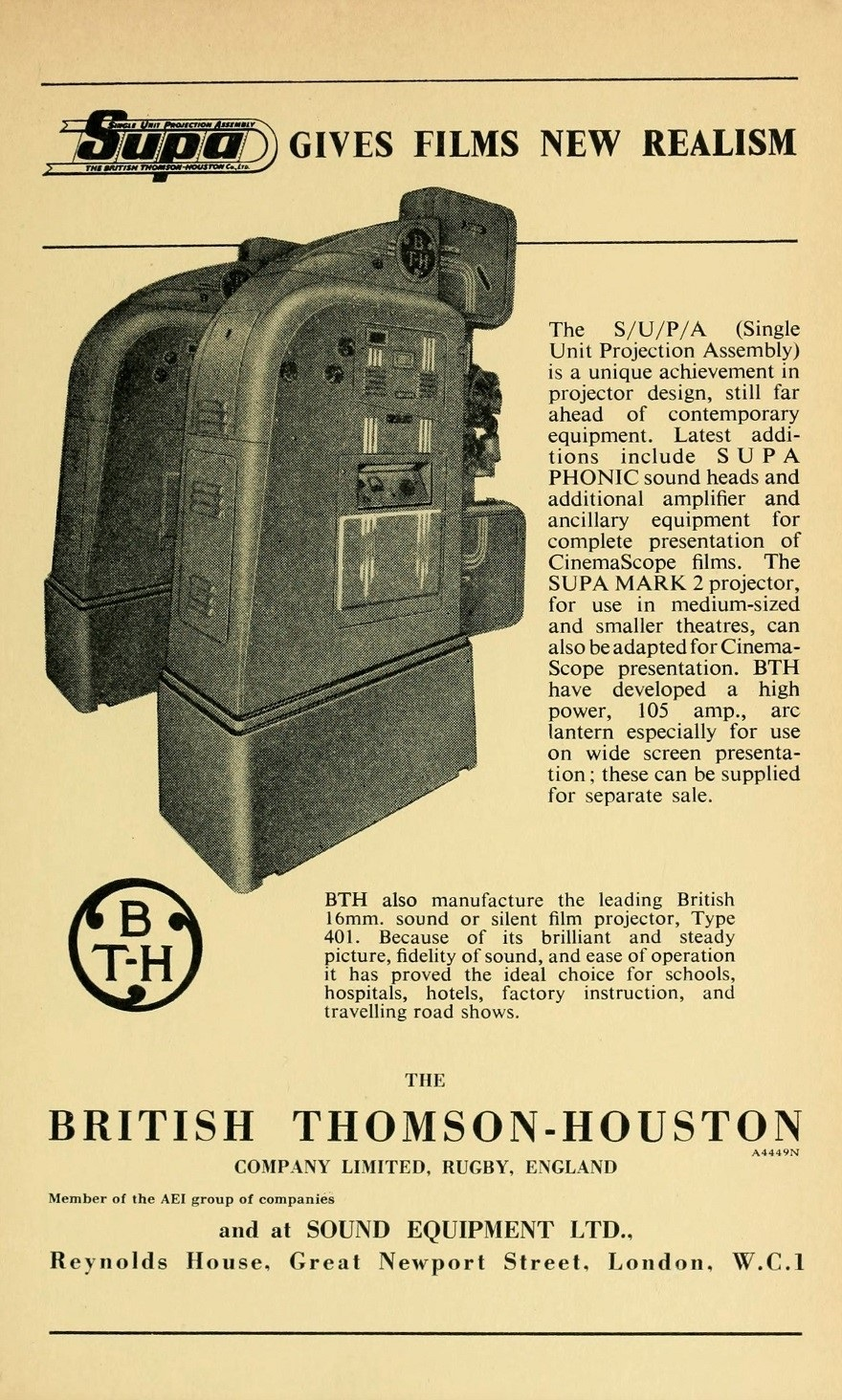 British Thomson Houston Sound Equipment