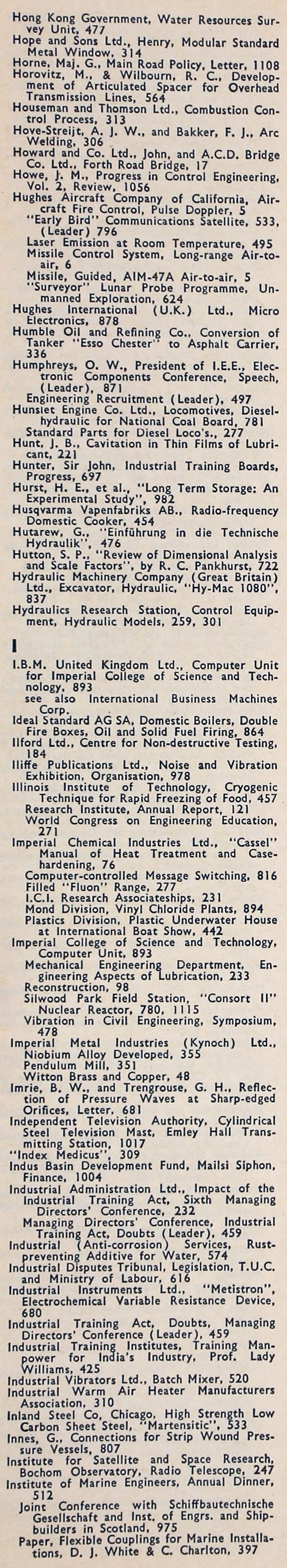 The Engineer 1965 Jan Jun Index Diagram Boat Wiring Massey Ferguson Parts Diagrams Overhead