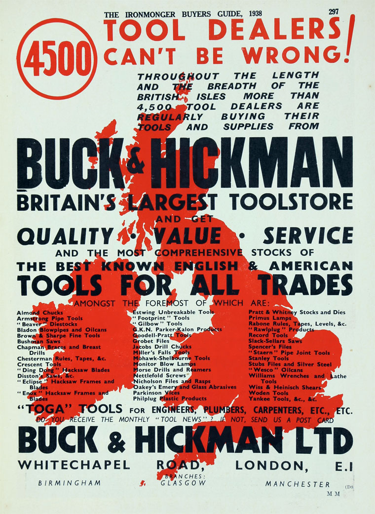 Buck And Hickman Graces Guide