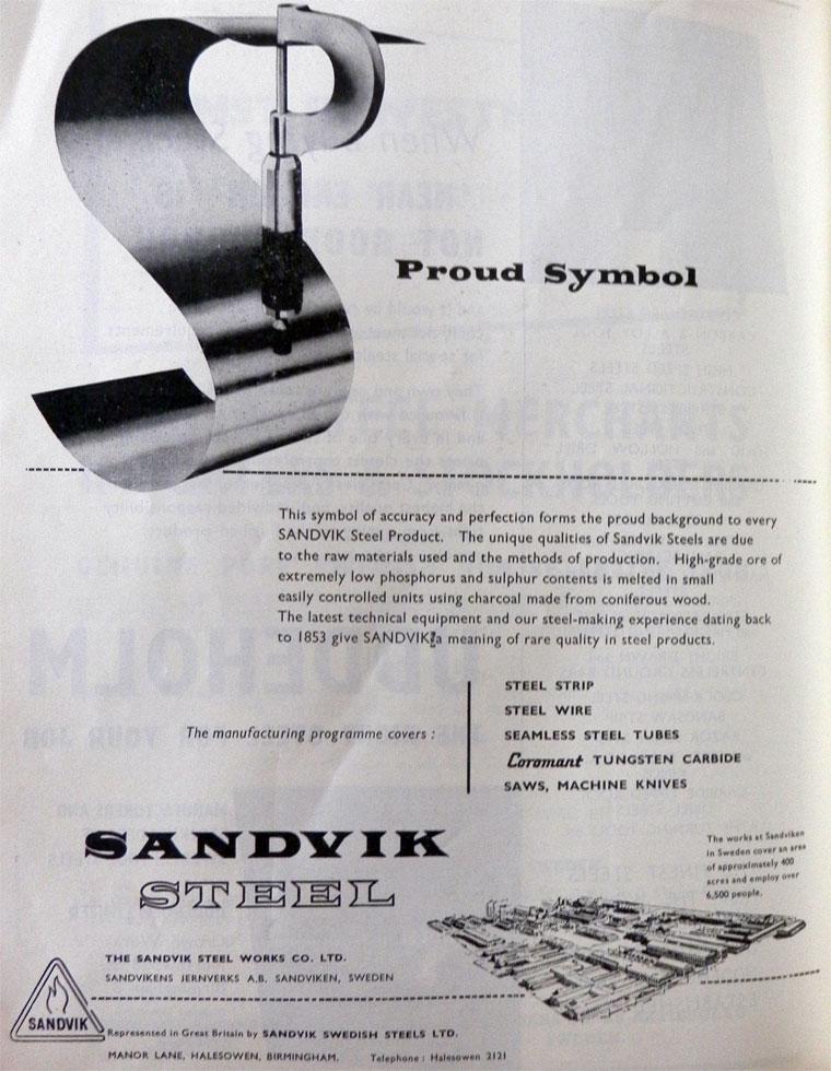 Sandvik Swedish Steels - Graces Guide