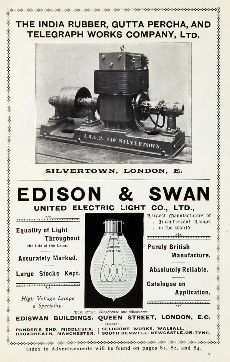 Edison And Swan United Electric Light Co Graces Guide