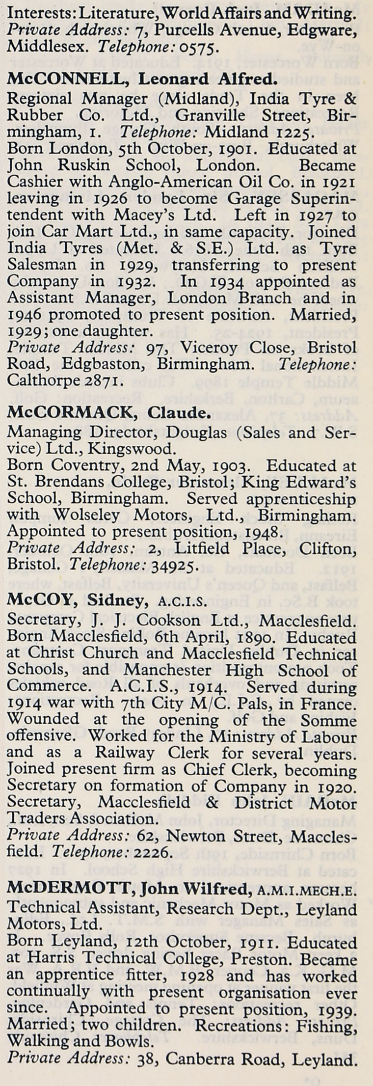 1953 whos who in the motor industry persons m graces guide im1953wwm p426bg aiddatafo Choice Image