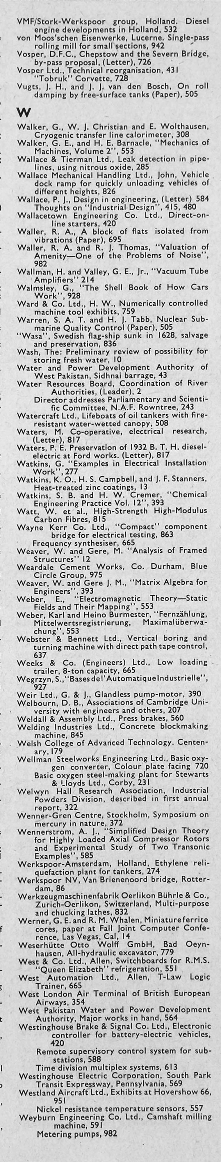 The Engineer 1966 Jan Jun Index