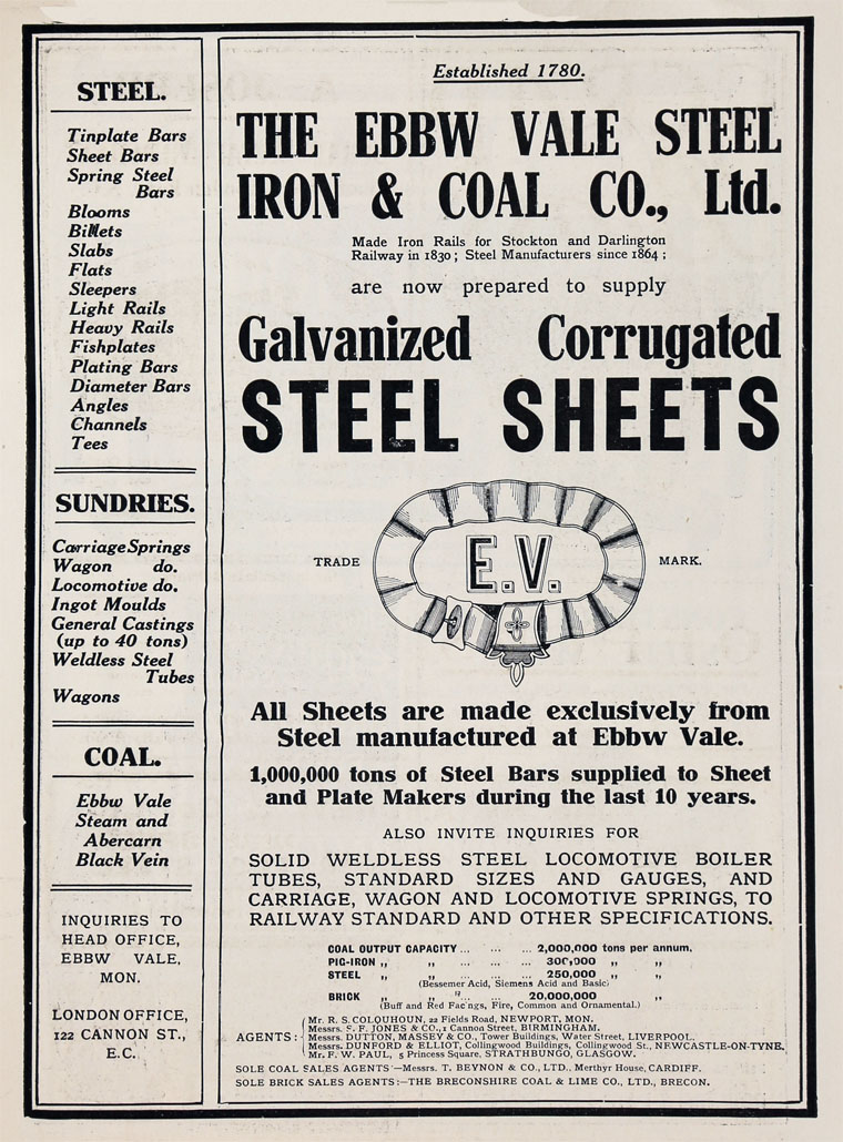 Ebbw Vale Steel, Iron and Coal Co