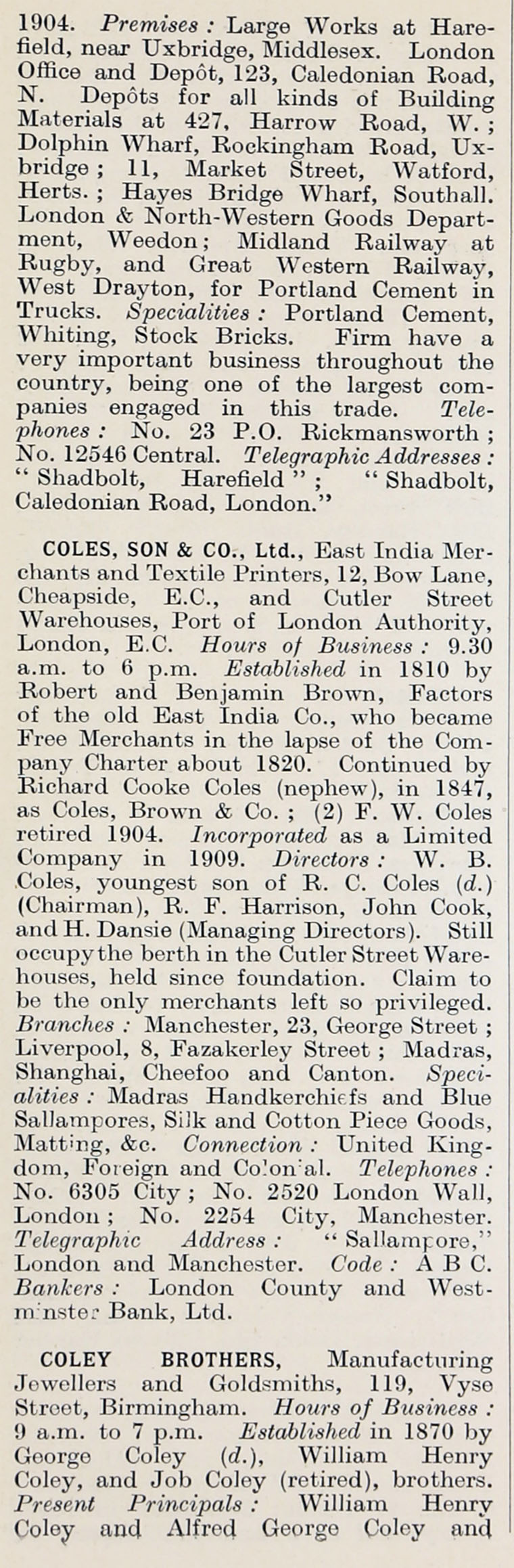 1914 Who S Who In Business Company C Graces Guide