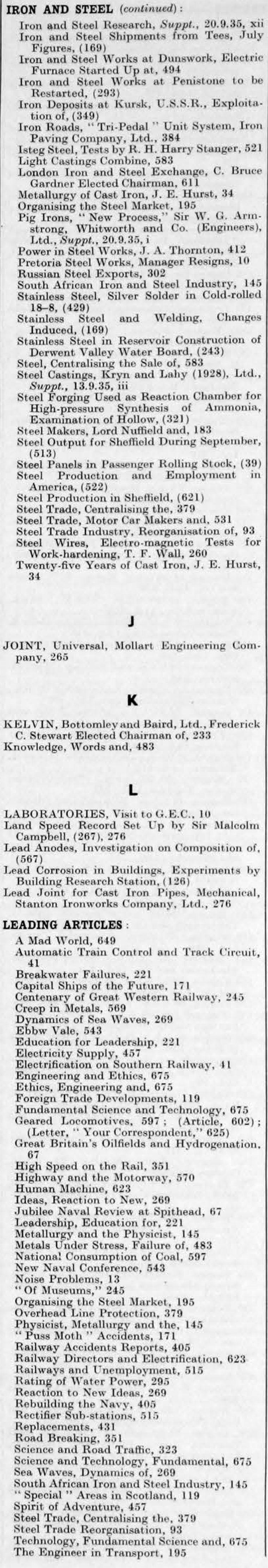 Le Comptoir 126 Lille the engineer 1935 jul-dec: index - graces guide