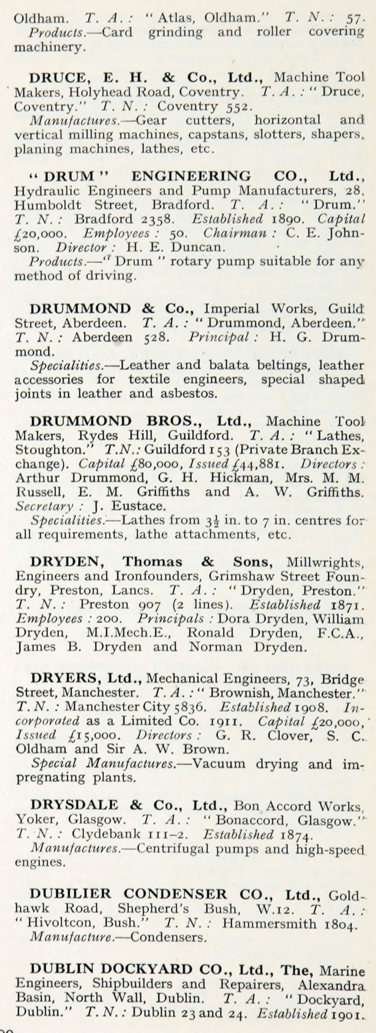 1922 who s who in engineering company d graces guide im1921bwwe p499b jpg
