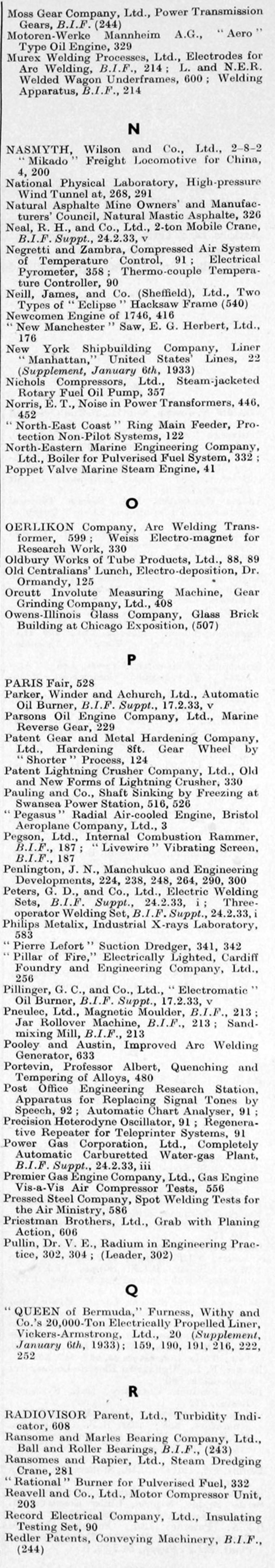The Engineer 1933 Jan Jun Index Ideal Circuit Breaker Finder 61 532 Eectrical Recievertransmitter