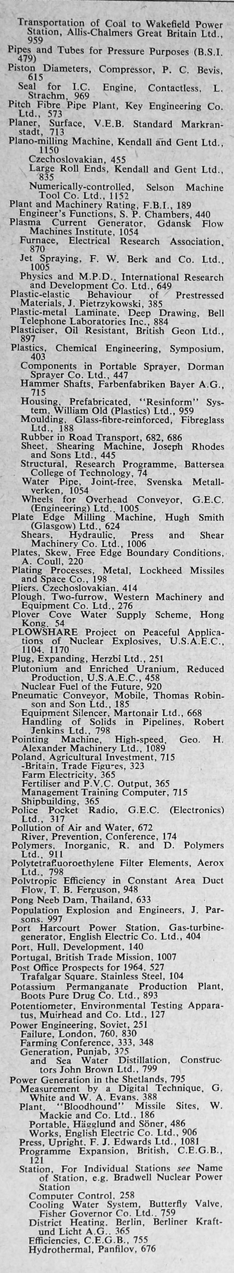 The engineer 1964 jan jun index sections 2 and 3 the engineer 1964 jan jun index pooptronica