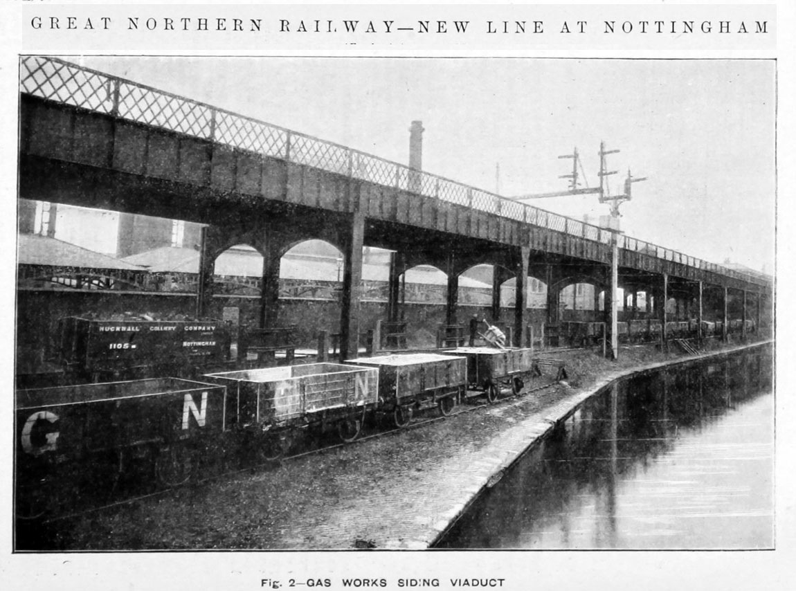 1900 New line at Nottingham Great Northern