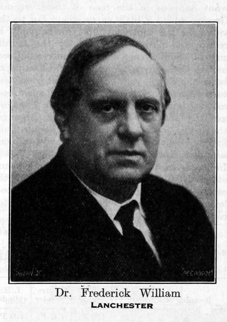 Who Invented The Automobile >> Frederick William Lanchester - Graces Guide
