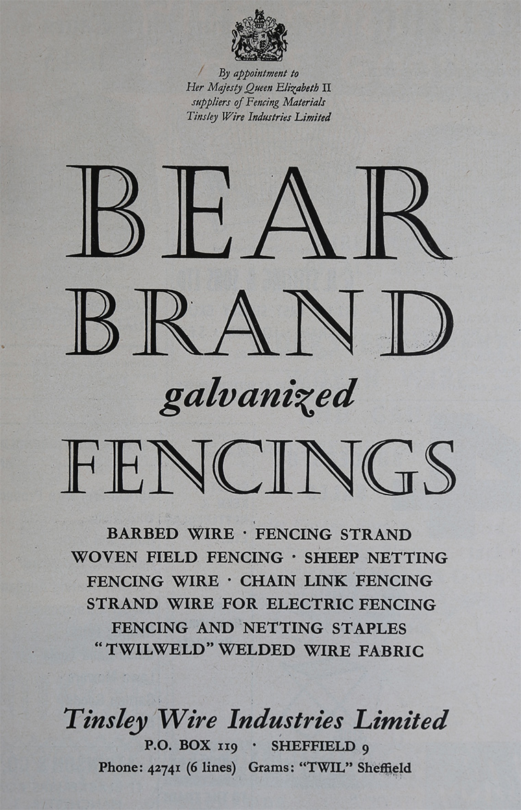 Tinsley Wire Industries Learn More At Electricfenceonlinecouk 1961 Bear Brand