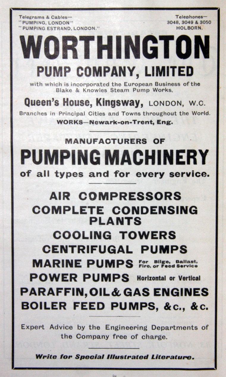 Worthington Pump Co - Graces Guide