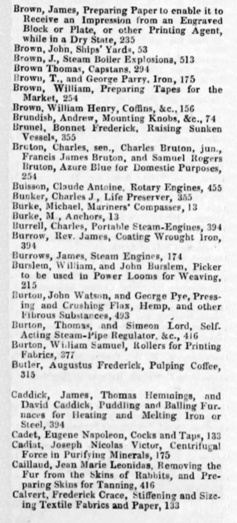 The Engineer 1857 Jan-Jun: Index: Patent Journal - Graces Guide