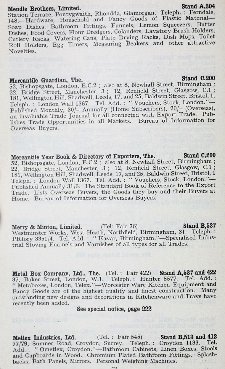 1957 British Industries Fair: Images
