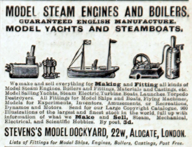 Stevens's Model Dockyard - Graces Guide